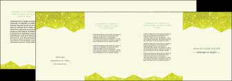 imprimer depliant 4 volets  8 pages  graphisme vert fond vert colore MIF60076