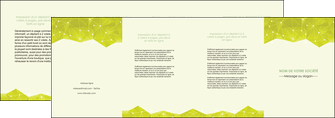 imprimer depliant 4 volets  8 pages  graphisme vert fond vert colore MLGI60076