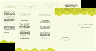 impression depliant 4 volets  8 pages  graphisme vert fond vert colore MIF60080