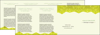 imprimerie depliant 4 volets  8 pages  graphisme vert fond vert colore MIF60082