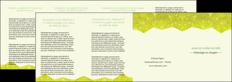 imprimerie depliant 4 volets  8 pages  graphisme vert fond vert colore MLIGBE60082