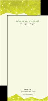 modele flyers graphisme vert fond vert colore MIF60084