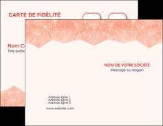 modele carte de visite saumon fond saumon pastel tendre MLGI60468