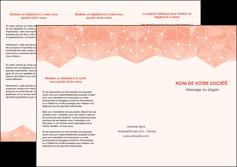 creation graphique en ligne depliant 3 volets  6 pages  saumon fond saumon pastel tendre MLGI60484