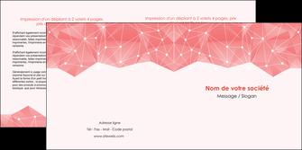 maquette en ligne a personnaliser depliant 2 volets  4 pages  saumon fond saumon pastel tendre MLGI60488
