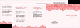maquette en ligne a personnaliser depliant 4 volets  8 pages  saumon fond saumon pastel tendre MLGI60502