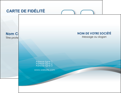 cree carte de visite bleu bleu pastel fond au bleu pastel MLGI60520