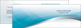 modele depliant 2 volets  4 pages  bleu bleu pastel fond au bleu pastel MLGI60526