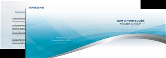 realiser depliant 2 volets  4 pages  bleu bleu pastel fond au bleu pastel MLGI60528