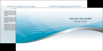 imprimer depliant 2 volets  4 pages  bleu bleu pastel fond au bleu pastel MLGI60540