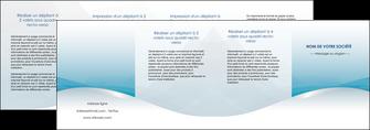 modele en ligne depliant 4 volets  8 pages  bleu bleu pastel fond au bleu pastel MLGI60560