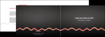 impression depliant 2 volets  4 pages  web design gris gris fonce mat MIF60900
