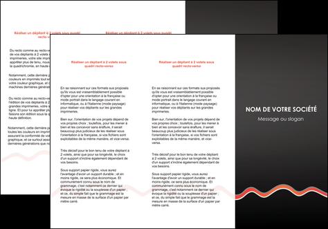 personnaliser modele de depliant 3 volets  6 pages  web design gris gris fonce mat MLGI60910
