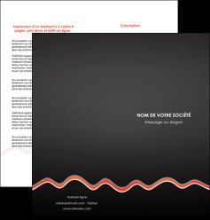 modele depliant 2 volets  4 pages  web design gris gris fonce mat MIF60912