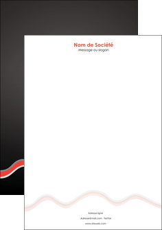 creer modele en ligne tete de lettre web design gris gris fonce mat MLGI60916