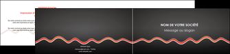 personnaliser maquette depliant 2 volets  4 pages  web design gris gris fonce mat MIF60920