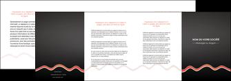impression depliant 4 volets  8 pages  web design gris gris fonce mat MIF60926