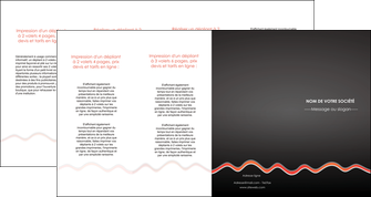 imprimer depliant 4 volets  8 pages  web design gris gris fonce mat MIF60930