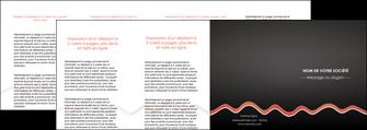 impression depliant 4 volets  8 pages  web design gris gris fonce mat MIF60932