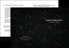 modele depliant 2 volets  4 pages  gris fond gris fonce MIF61410