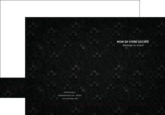 cree pochette a rabat gris fond gris fonce MIF61416