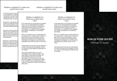 faire depliant 3 volets  6 pages  gris fond gris fonce MLIGBE61430