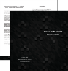 faire depliant 2 volets  4 pages  gris fond gris fonce MIF61432