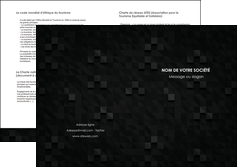 cree depliant 2 volets  4 pages  gris fond gris fonce MIF61444