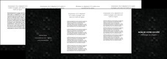 impression depliant 4 volets  8 pages  gris fond gris fonce MIF61446
