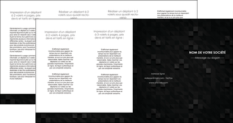 maquette en ligne a personnaliser depliant 4 volets  8 pages  gris fond gris fonce MIF61450