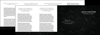 creer modele en ligne depliant 4 volets  8 pages  gris fond gris fonce MIF61452