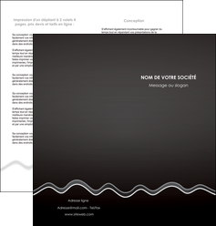 modele depliant 2 volets  4 pages  gris fond gris courbes MLIG61484