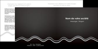 impression depliant 2 volets  4 pages  gris fond gris courbes MLIG61486