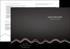 personnaliser modele de depliant 2 volets  4 pages  gris fond gris courbes MLIG61496