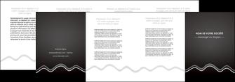 imprimer depliant 4 volets  8 pages  gris fond gris courbes MLIG61498
