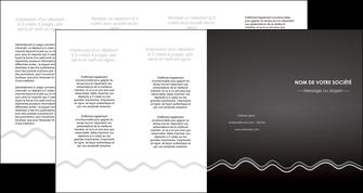 modele depliant 4 volets  8 pages  gris fond gris courbes MLIG61502