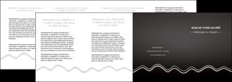 personnaliser modele de depliant 4 volets  8 pages  gris fond gris courbes MLIG61504