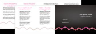 modele depliant 4 volets  8 pages  gris fond gris arriere plan MIF61814