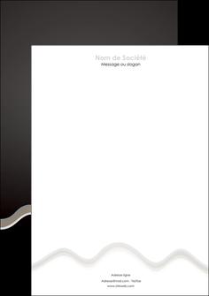 Commander Imprimerie papier à entête de lettre  modèle graphique pour devis d'imprimeur Tête de lettre A4