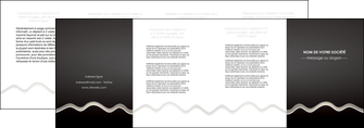 impression depliant 4 volets  8 pages  gris fond gris arriere plan MIF61874