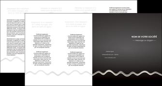 imprimerie depliant 4 volets  8 pages  gris fond gris arriere plan MIF61878