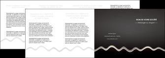 imprimerie depliant 4 volets  8 pages  gris fond gris arriere plan MIF61880