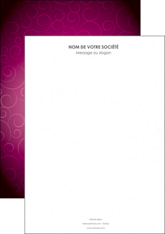 creer modele en ligne affiche fushia rose courbes MLGI61888