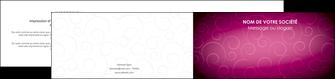 imprimerie depliant 2 volets  4 pages  fushia rose courbes MLGI61920