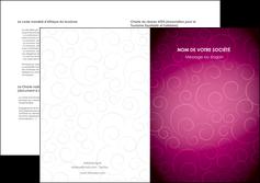 faire modele a imprimer depliant 2 volets  4 pages  fushia rose courbes MLGI61924