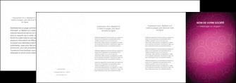 personnaliser modele de depliant 4 volets  8 pages  fushia rose courbes MLGI61926