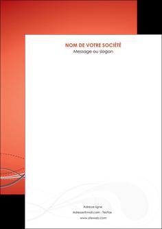 personnaliser maquette flyers rouge couleur rouge orange MIF61998