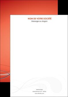 personnaliser modele de affiche rouge couleur rouge orange MIF62004