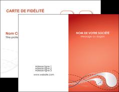 imprimerie carte de visite rouge couleur rouge orange MIF62006