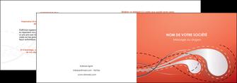 creation graphique en ligne depliant 2 volets  4 pages  rouge couleur rouge orange MIF62012